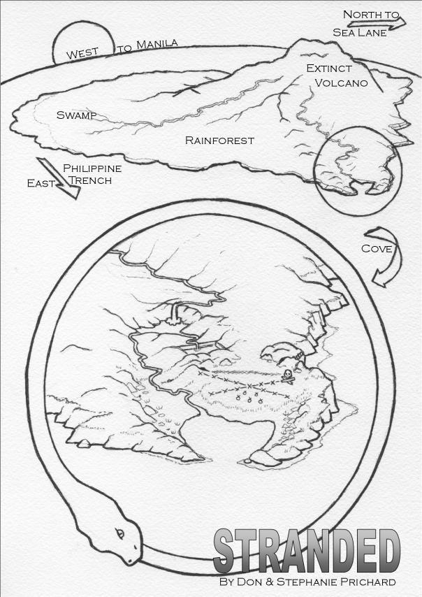 Stranded island map